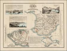 Russia and Ukraine Map By John P. Jewett & Co. / Ernest Sandoz