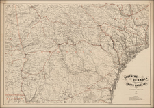 Southeast Map By Adolph Lindenkohl