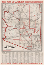 Arizona Map By George Clason