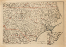 Virginia, North Carolina and South Carolina Map By Adolph Lindenkohl