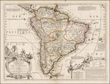 South America Map By Jean-Baptiste Nolin
