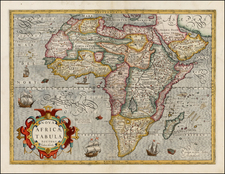 Africa and Africa Map By Jodocus Hondius