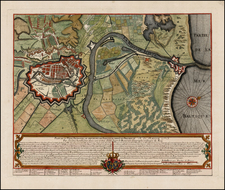 Poland Map By Jean de Beaurain