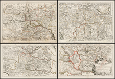 Austria, Hungary, Balkans and Serbia Map By Vincenzo Maria Coronelli / Jean-Baptiste Nolin