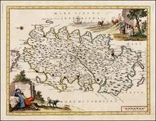 Italy and Balearic Islands Map By Giambattista Albrizzi