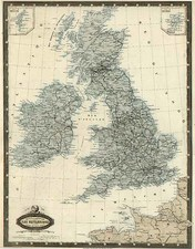 Europe and British Isles Map By F.A. Garnier