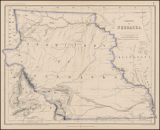 Plains and Rocky Mountains Map By Henry Darwin Rogers  &  Alexander Keith Johnston