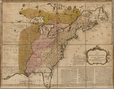 United States, New England, Mid-Atlantic, South, Southeast, Midwest and North America Map By Thomas Bowles