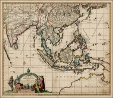 China, India, Southeast Asia, Philippines, Australia & Oceania and Australia Map By Johannes De Ram