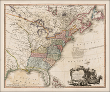 United States, Southeast, Midwest and Plains Map By William Faden