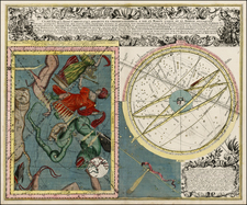 Celestial Maps Map By Matthaus Seutter