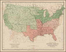 United States Map By W. & A.K. Johnston  &  Henry Darwin Rogers