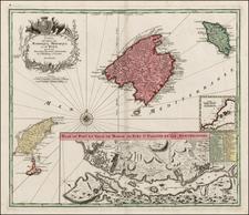 Spain and Balearic Islands Map By Matthaus Seutter
