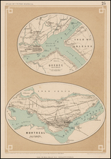 Canada Map By Henry Darwin Rogers  &  Alexander Keith Johnston