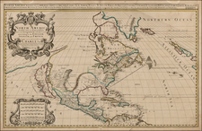 North America and California Map By William Berry