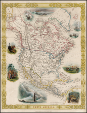 North America Map By George Virtue