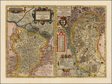 Italy Map By Abraham Ortelius / Johannes Baptista Vrients