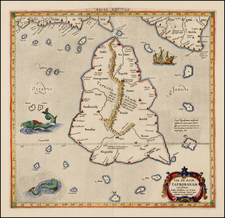 India, Southeast Asia and Other Islands Map By  Gerard Mercator