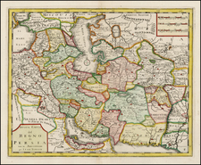 Central Asia & Caucasus and Middle East Map By Giambattista Albrizzi / Isaak Tirion