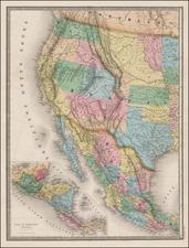 Texas, Plains, Southwest, Rocky Mountains and California Map By Eugène Andriveau-Goujon