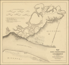 South, Kentucky, Missouri and Civil War Map By Dept. of the Mississippi