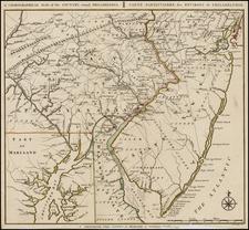 Mid-Atlantic Map By Covens & Mortier / Bernard Romans