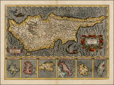 Greece, Turkey and Cyprus Map By Gerard Mercator
