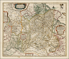 Poland, Ukraine and Baltic Countries Map By Johannes Blaeu