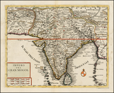 India Map By Giambattista Albrizzi
