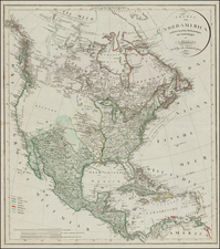 United States, Southeast, North America and Canada Map By Christian Gottlieb Reichard