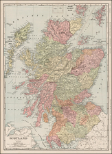 Scotland Map By William Rand  &  Andrew McNally