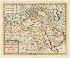 Balkans, Turkey, Central Asia & Caucasus, Middle East, Turkey & Asia Minor and North Africa Map By Giambattista Albrizzi