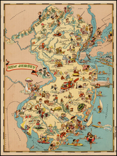 Mid-Atlantic Map By Ruth Taylor White