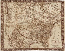 United States, Southeast, Texas, Midwest, Plains, Rocky Mountains, North America and California Map By Robert Wilkinson / R. Gray