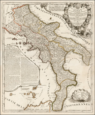 Italy and Southern Italy Map By Jean-Baptiste Nolin