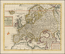 Europe and Europe Map By Giambattista Albrizzi