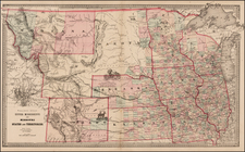 Midwest, Plains and Rocky Mountains Map By Henry S. Stebbins