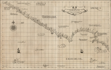 Baja California and California Map By Robert Dudley