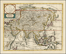 Asia and Asia Map By Giambattista Albrizzi