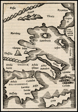 Greece and Balearic Islands Map By Caius Julius Solinus