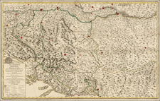 Balkans Map By Franz Anton Schraembl