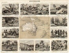 Australia & Oceania and Australia Map By Friedrich Arnold Brockhaus