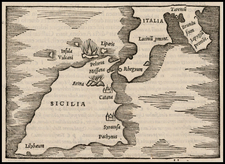 Italy and Balearic Islands Map By Caius Julius Solinus