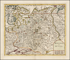 Russia and Ukraine Map By Giambattista Albrizzi