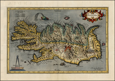 Iceland Map By  Gerard Mercator
