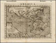 Western Hemisphere, South America, Australia and America Map By Girolamo Ruscelli / Giovanni Botero