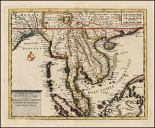 China, India, Southeast Asia and Other Islands Map By Giambattista Albrizzi