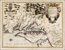 A Map of Virginia And Maryland By John Speed
