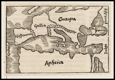 Europe, Europe and North Africa Map By Caius Julius Solinus