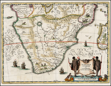 South Africa, East Africa and African Islands, including Madagascar Map By Matthaus Merian